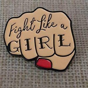 Fight like a girl, pin
